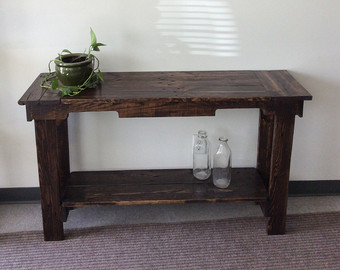 reclaimed wood hallway table JHINUZW