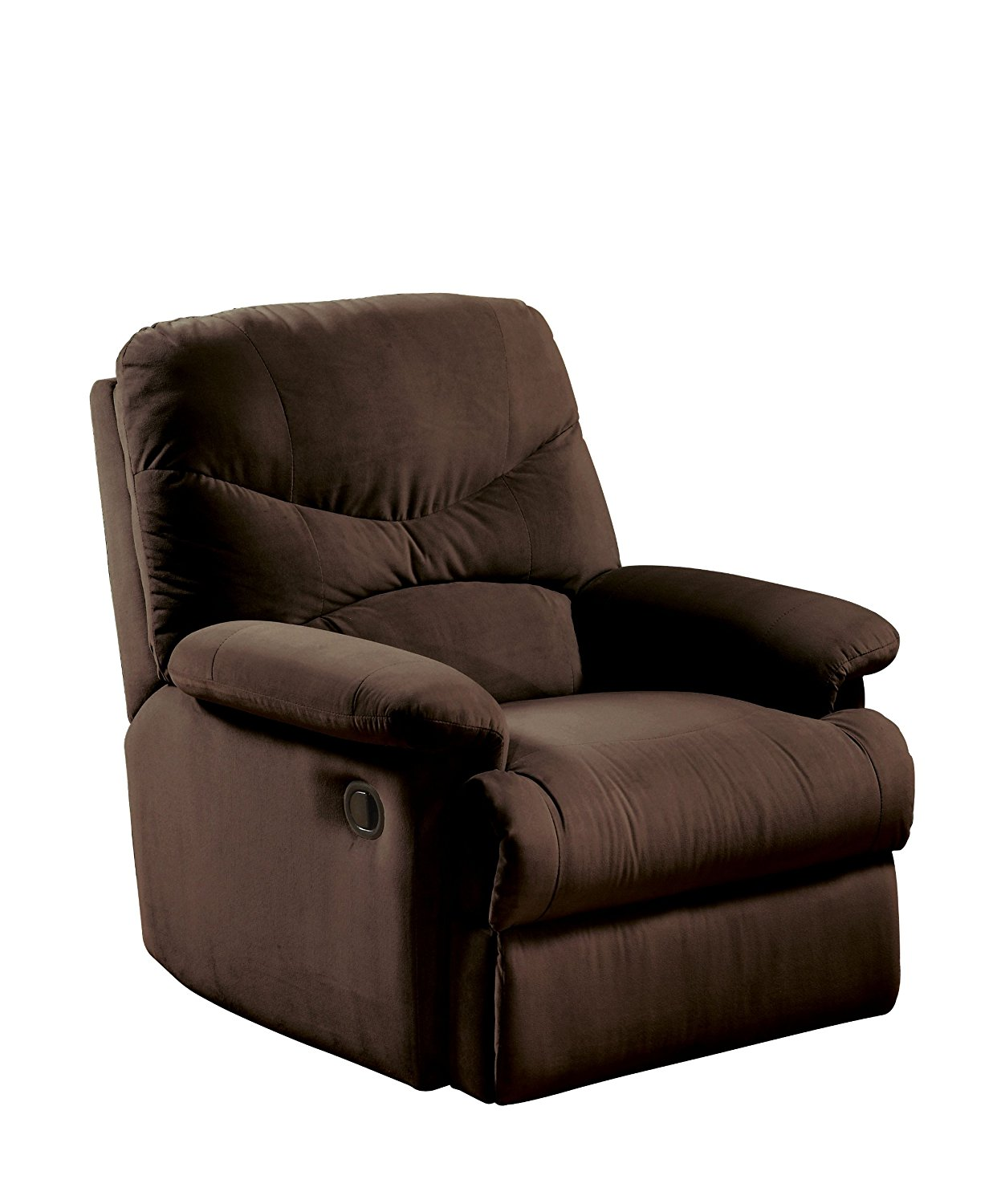 recliner chairs amazon.com: acme 00632 arcadia recliner, oakwood chocolate microfiber:  kitchen u0026 dining DCUIVOH