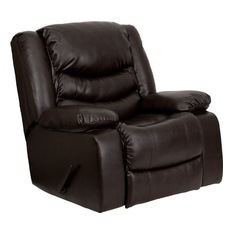 recliner chairs divano roma furniture - rocking plush bonded leather recliner, brown - recliner GCVTDOI