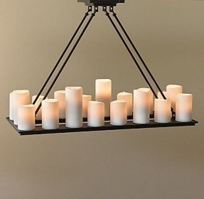 rectangular candle chandelier MYYLRFD
