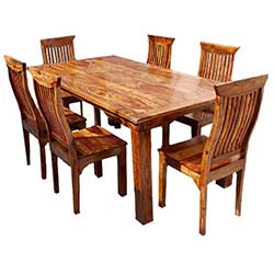 rustic dining table rustic solid wood dining table u0026 chair set furniture OVCGKMX