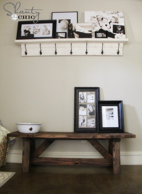 rustic entryway bench - 40 rustic home decor ideas you can build yourself DEKNYAN