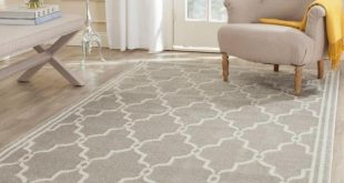 safavieh rugs safavieh amherst light gray/ivory 6 ft. x 9 ft. indoor/outdoor area rug-amt414b-6 ICSHDWF