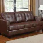 samuel brown leather sofa bed