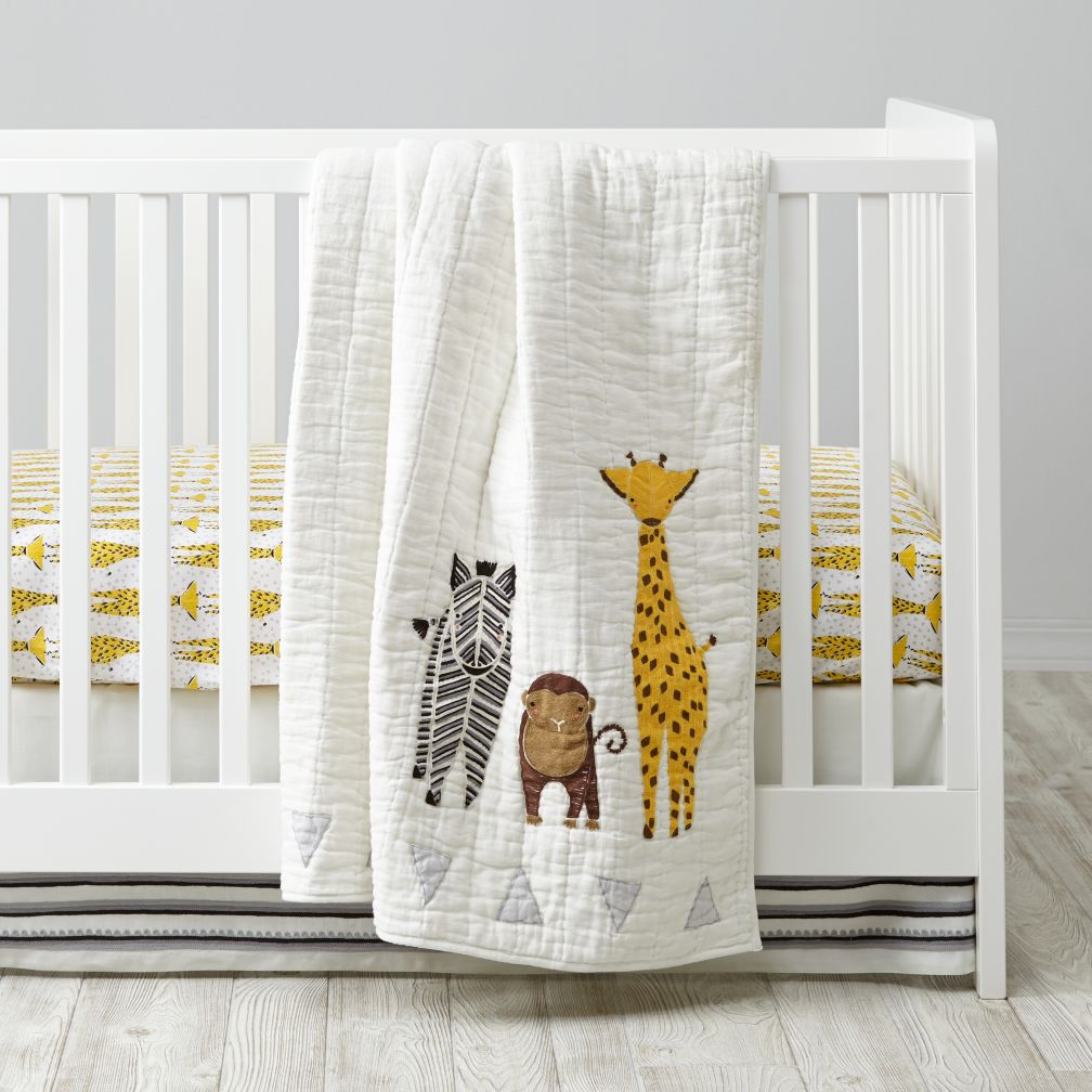 savanna safari crib bedding | the land of nod JKCQZPS