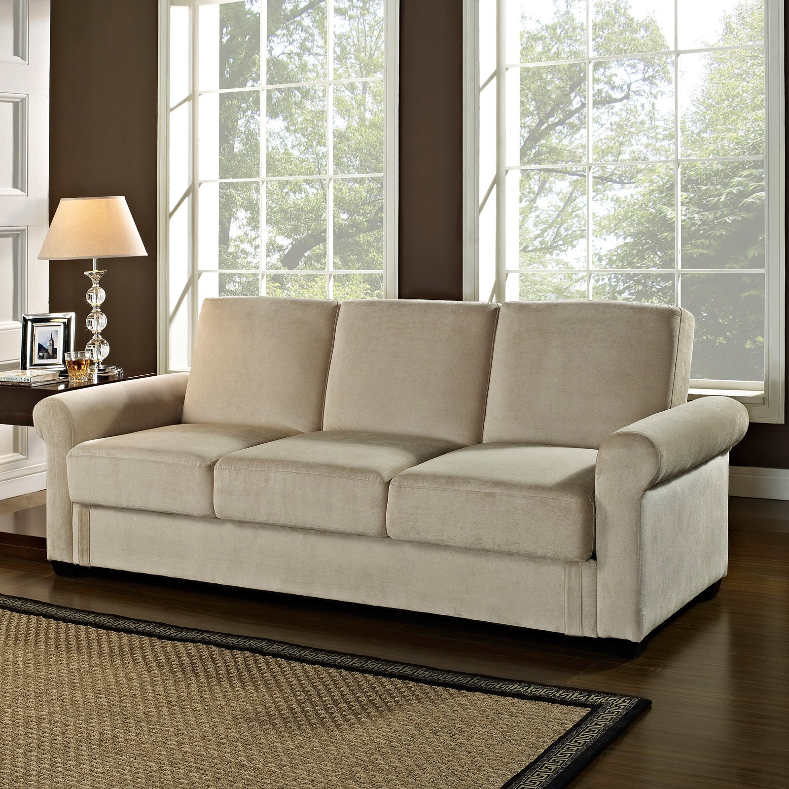 serta dream thomas convertible sofa - light brown - futons at hayneedle XJVNIYN