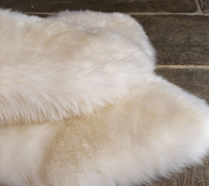 sheepskin rug | pottery barn YSINEVB