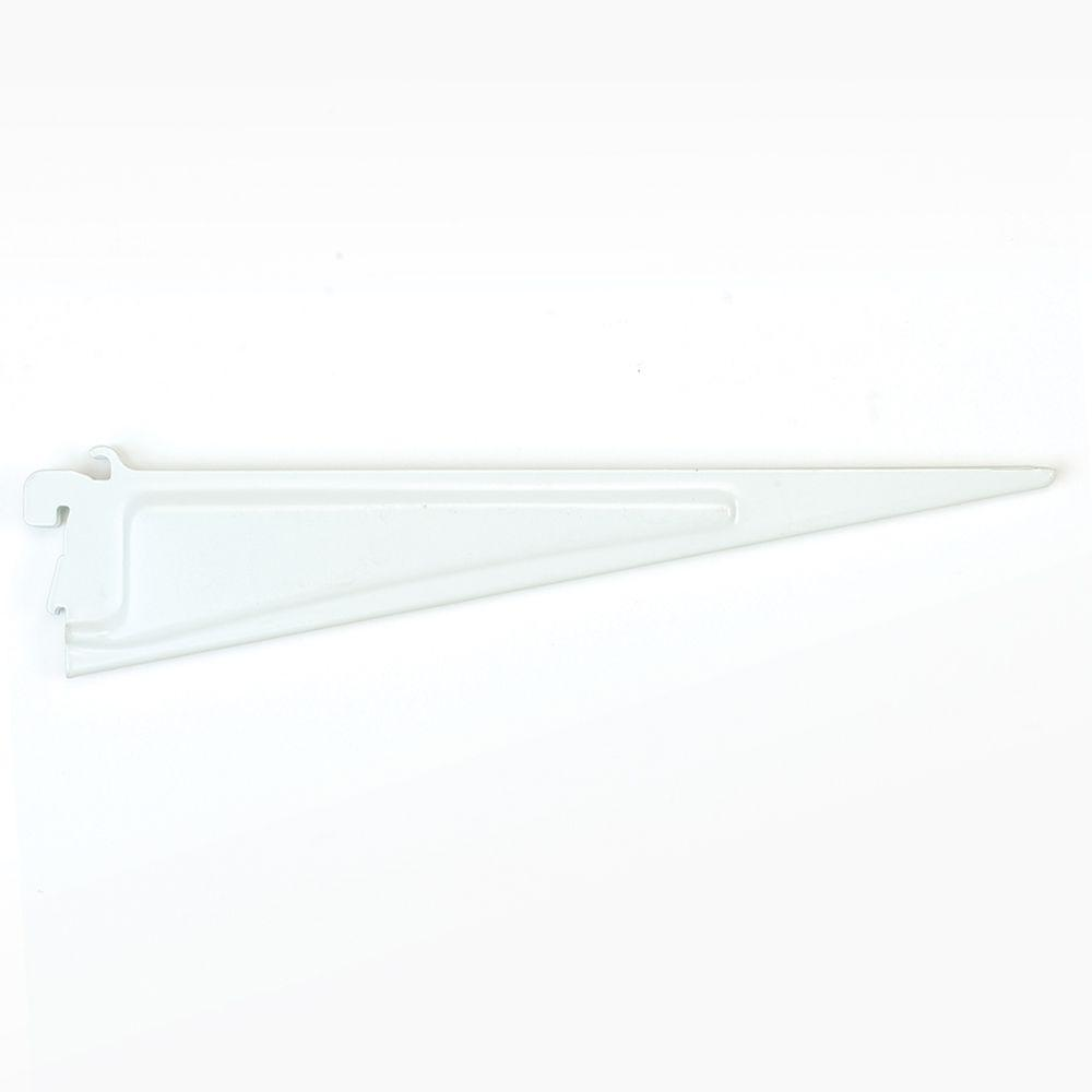 shelf brackets closetmaid shelftrack 12 in. x .5 in. white shelf bracket XGNDUQZ
