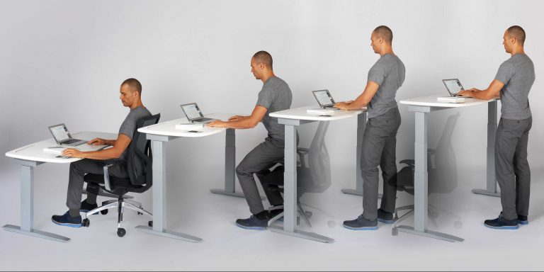 sit stand desk height-adjusting sit-stand desk UJLTSDJ