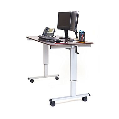 sit stand desk luxor standard sit u0026 stand desk, ... AFIVRMY