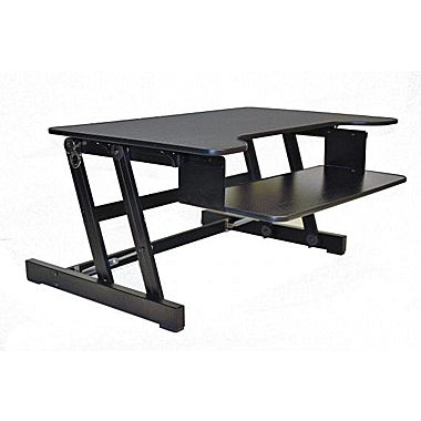 sit stand desk rocelco adr sit to stand adjustable desk riser 32 CSWKBLB