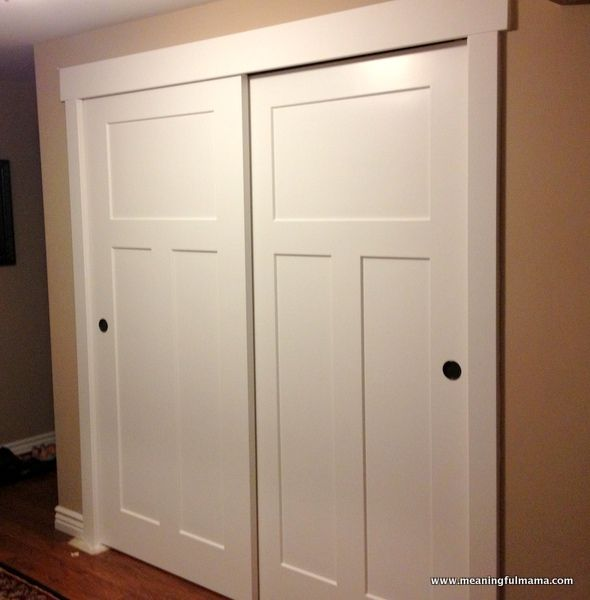 sliding closet doors closet door makeover--meaningful mama: day #349 - diy QTNZRQE