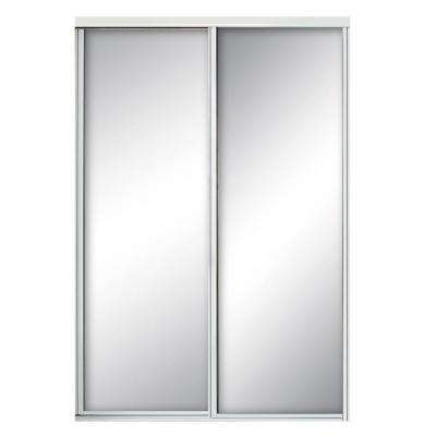 sliding closet doors concord mirrored white aluminum interior sliding door RKUDYYZ