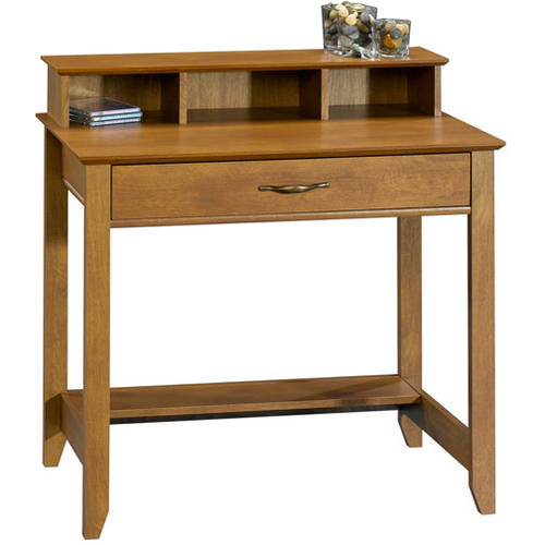 small desk mainstays cardinal hill writing desk, hazelwood FRWJQTY