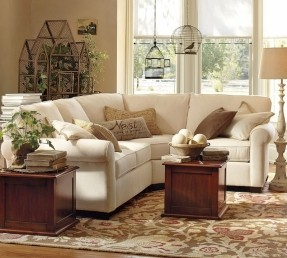 small sectional sofa buchanan curved 3-piece small sectional with wedge #potterybarn KCUCPDY