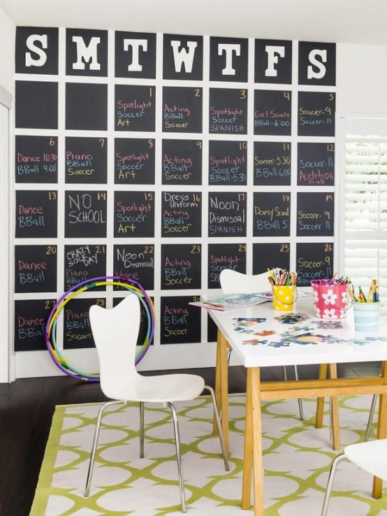 Smart Chalkboard Home Office Decor Ideas RLZBJFO