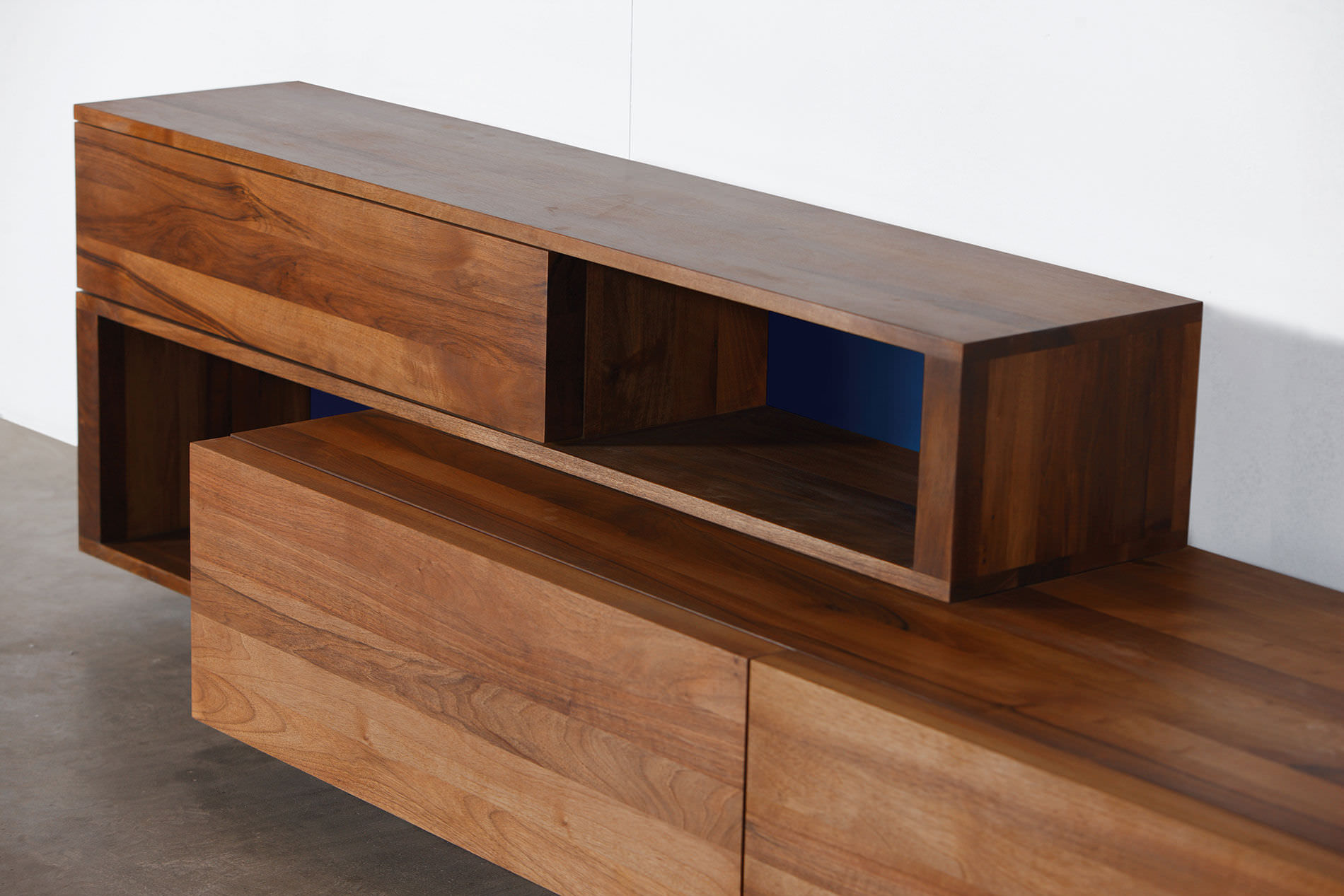 solid wood furniture contemporary sideboard / oak / walnut / solid wood log by michael schneider RMTZMUY