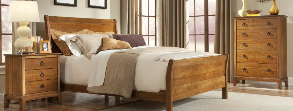 solid wood furniture, solid wood bedroom set, made in canada DXMHBWS