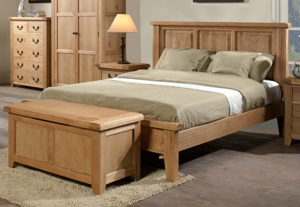 somerset oak wooden bed frame light wood wooden beds beds BOMQUKV