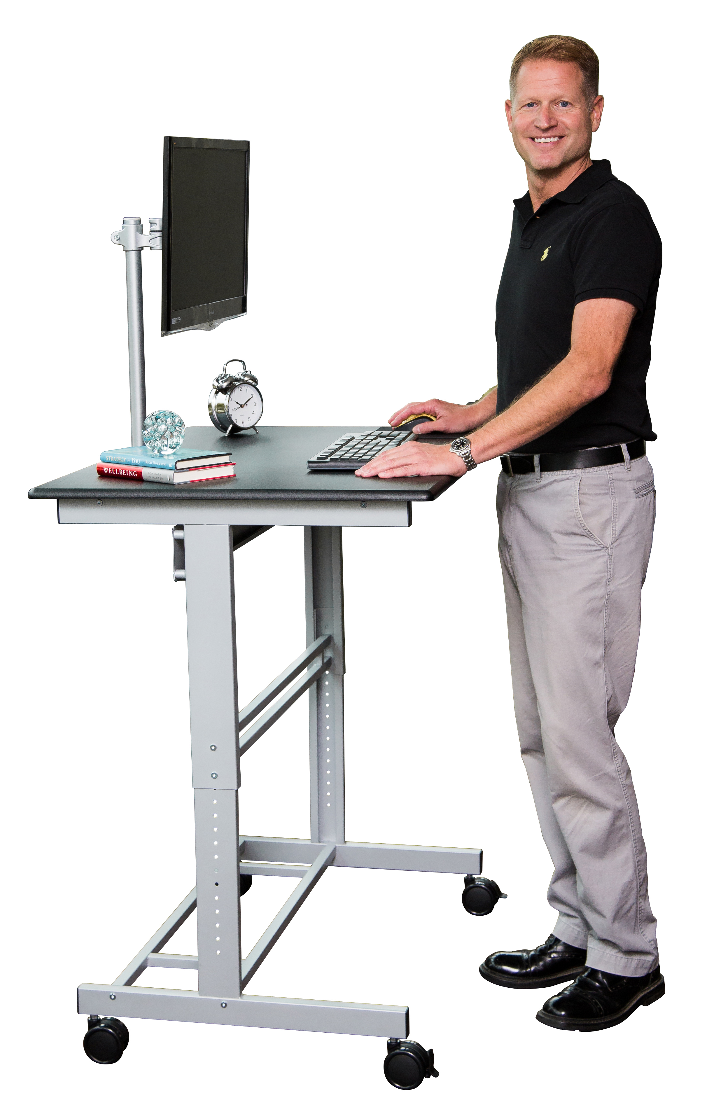 standing desk adjustable stand up desk with monitor mount | stand up desk store NYSCFER