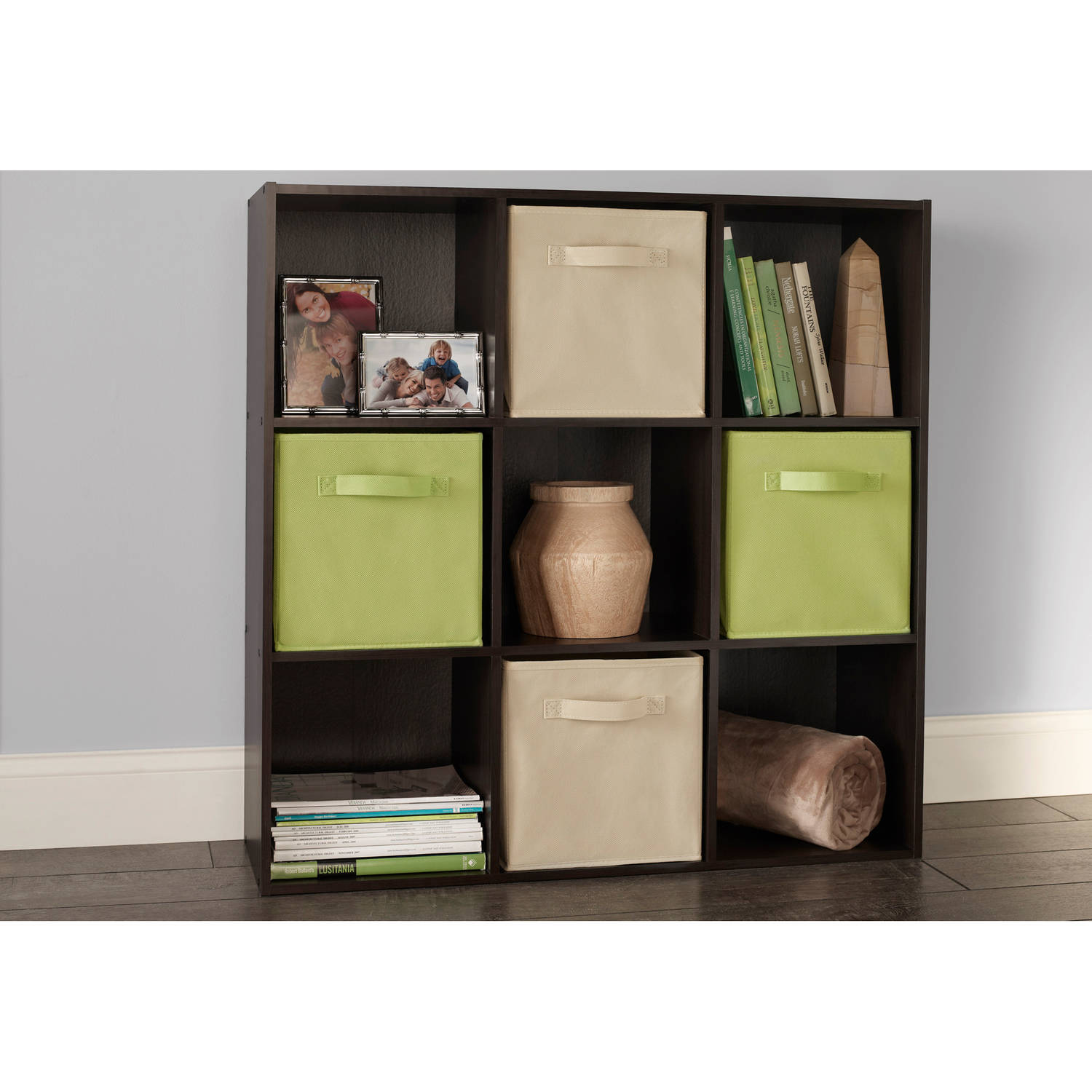 storage cubes mainstays no tools assembly 8-cube shelving storage unit, multiple colors -  walmart.com FZDPEBD