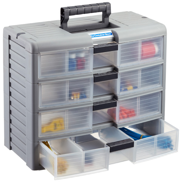 storage drawers ... 4-drawer storage chest grey AXIQGPR