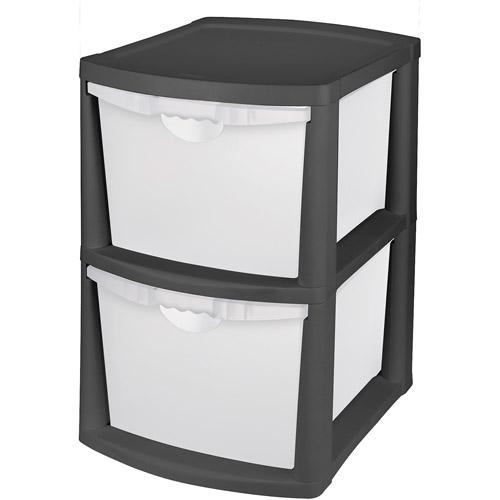 storage drawers sterilite 2-drawer bin storage, multiple colors SBVPVQR