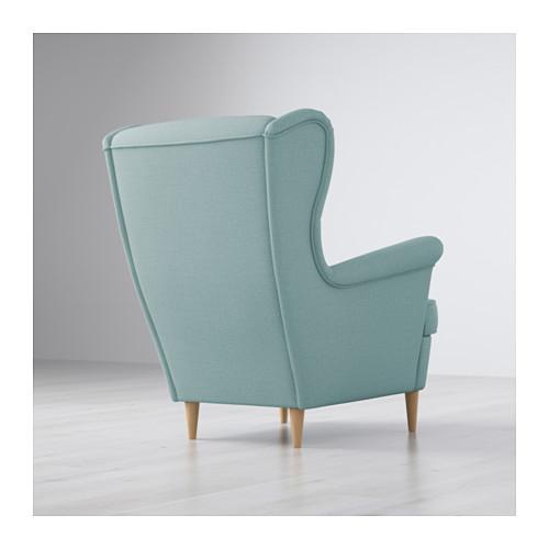 strandmon wing chair - nordvalla dark gray - ikea HCNWRIM