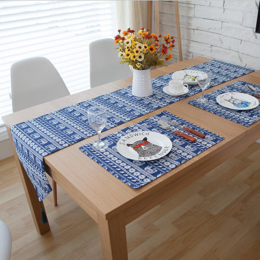 table runners 3/5/7-pieces linen cotton bohemia table runner and placemat sets table DHNUTMU