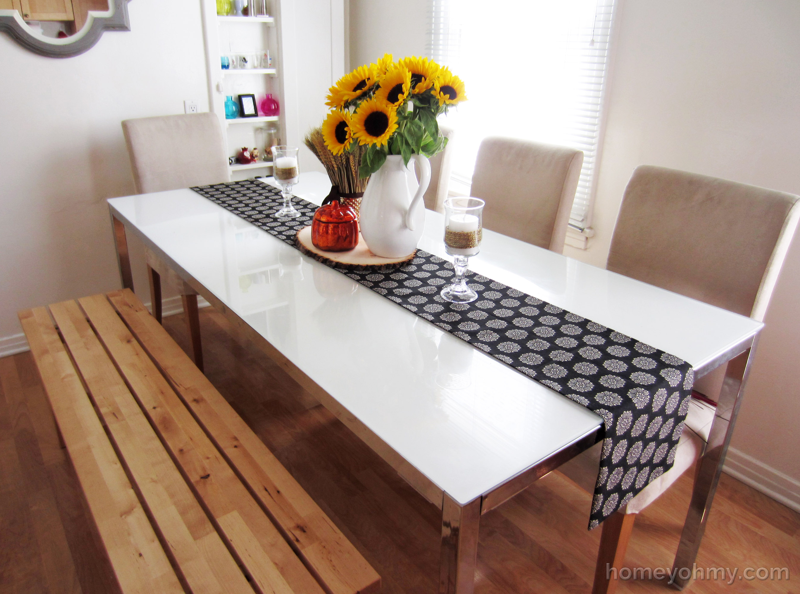 table runners diy no sew table runner 4 HGHMYWW