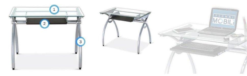 techni mobiliu0027s compact glass computer desk ZDXHSWU
