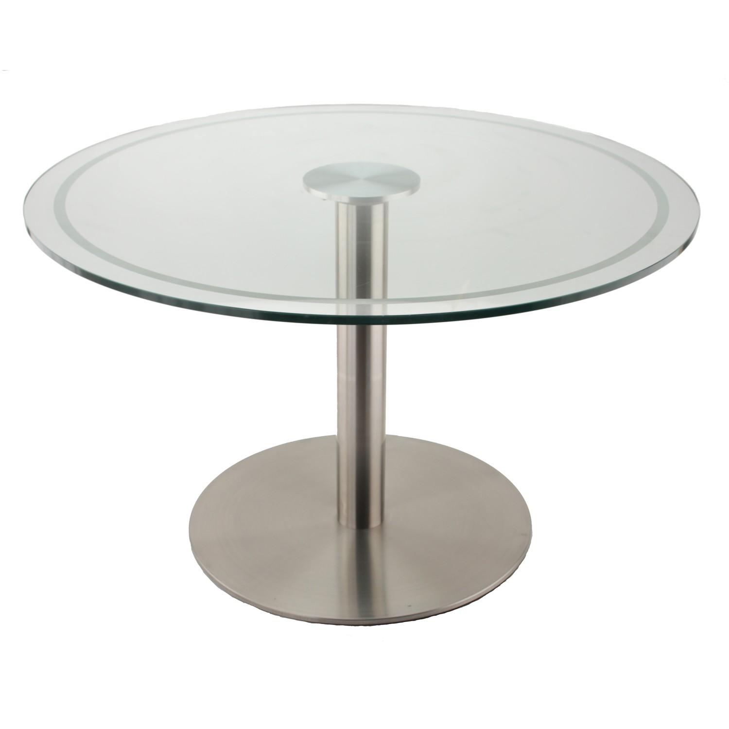 the rfl750 stainless steel table base with glass table top, using our glass ERLBGQD