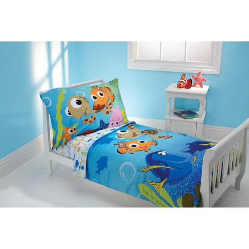 toddler bedding sets disney nemo 3-piece toddler bedding set with bonus matching pillow case ZFIULNW