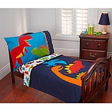 toddler bedding sets image of carteru0027s® prehistoric pals 4-piece toddler bedding set GBHVWQB