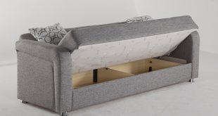 vision diego gray convertible sofa