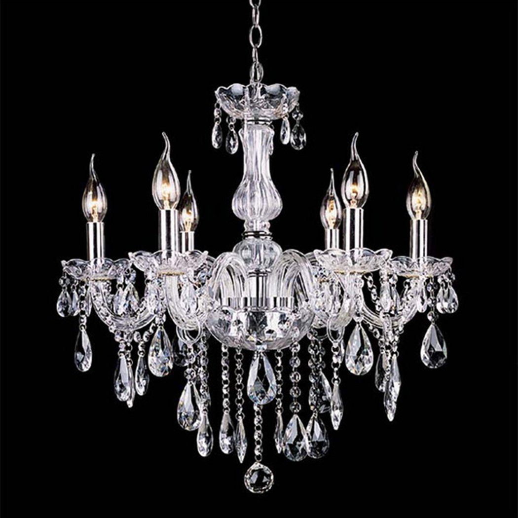 wakrays crystal lamp fixture pendant light ceiling chain candle chandelier  (clear) NGTDVLL