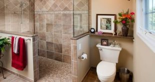 walk in showers 43 amazing bathrooms with half walls SBAPRUJ