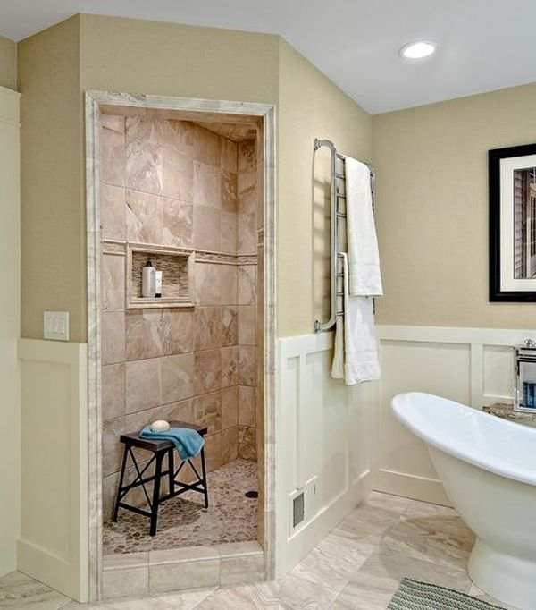 walk in showers home decorating trends - homedit GXWLWKM