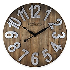 wall clocks image of firstime® slat wall clock in wood HMZPTCV