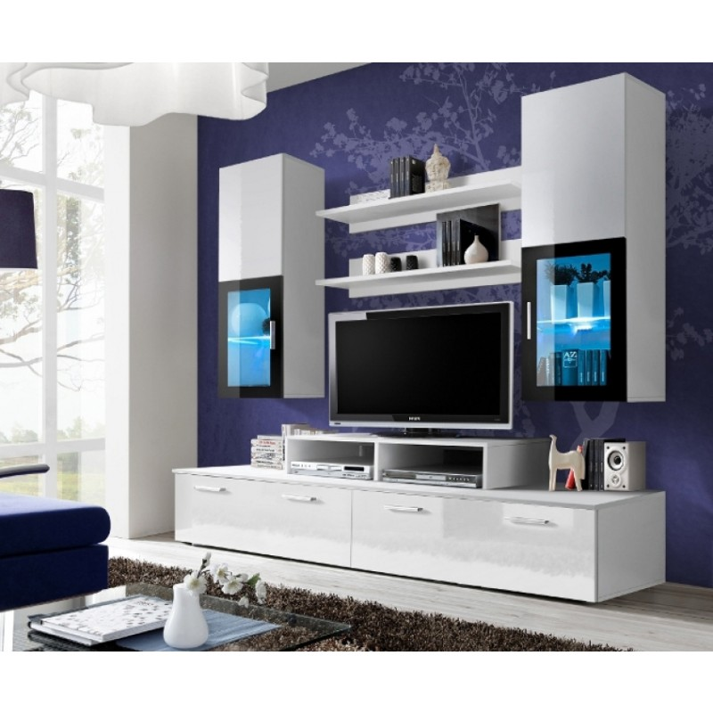 wall units white high gloss wall unit - toledo 1 EDCMKLS