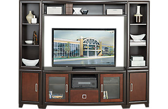 wall units winton chocolate 4 pc wall unit BYDNIVG