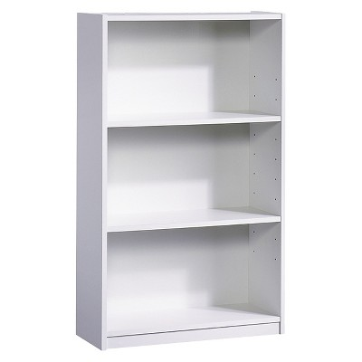 white bookcase 3-shelf bookcase white - room essentials™ MWNDCLM