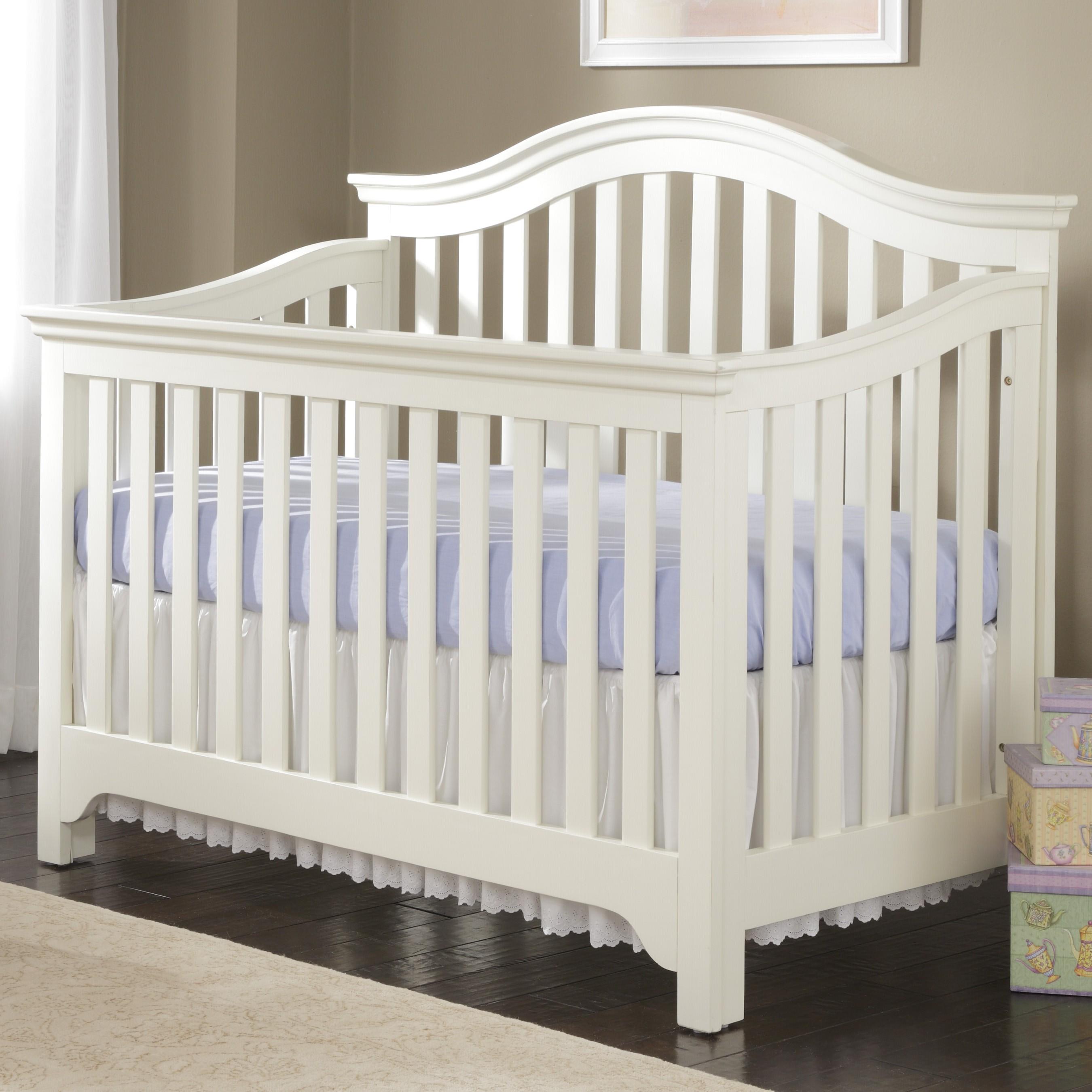white crib creations mesa convertible crib in white LVARSJL
