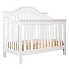 white crib image of davinci jayden 4-in-1 convertible crib in white JADYCZY