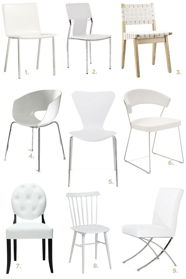 white dining chairs 10 white chairs to make a big impact on your dining room XQLRMMB