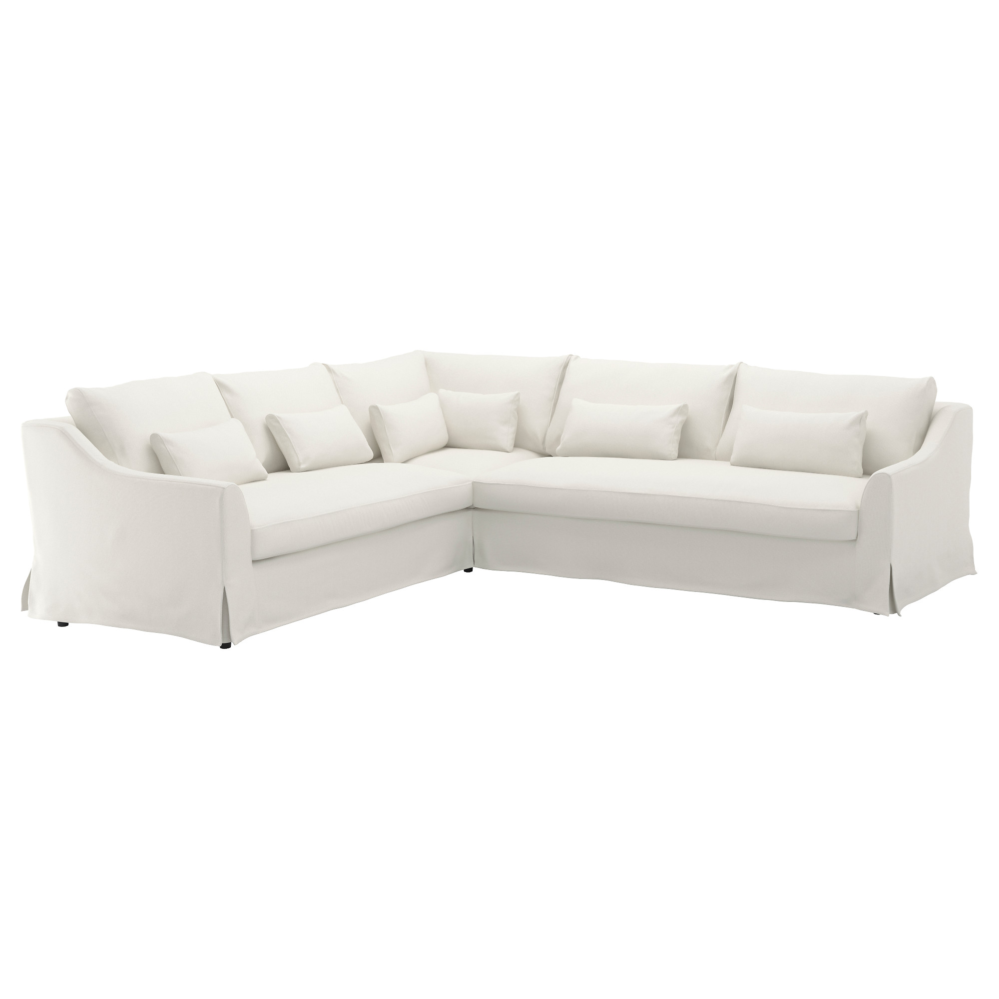 white sofa färlöv sectional,5 seat/sofa right, flodafors white height including back  cushions: OCFUIHH