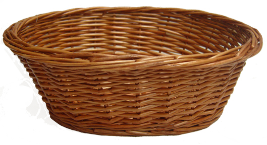 wicker baskets oval wicker basket small 20x16x7cm dark stain UDEDBFY