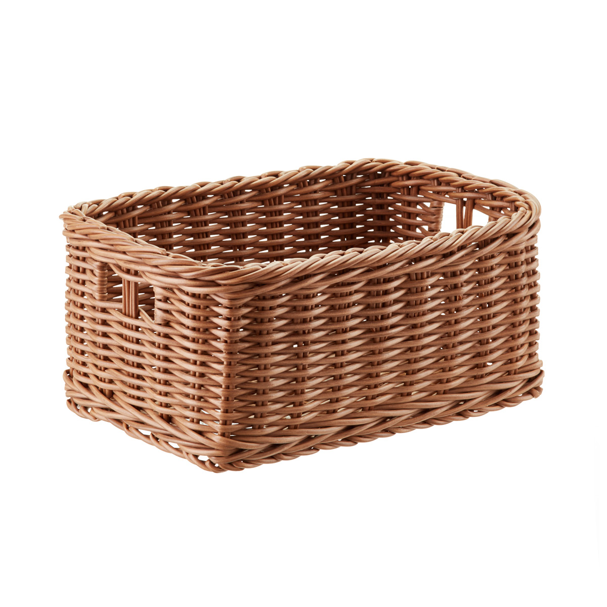 wicker baskets plastic wicker storage bin with handles UDBYJCR