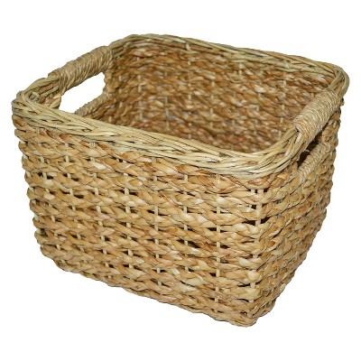 wicker baskets seagrass small square wicker basket - threshold™ RCHJQKF