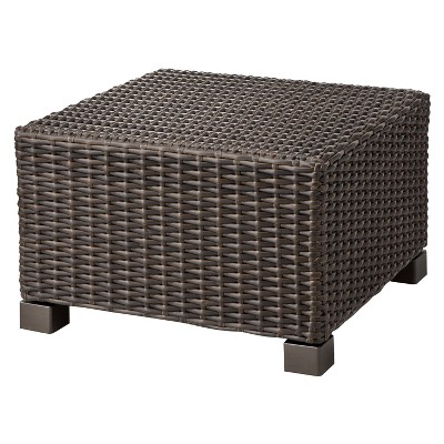 wicker outdoor furniture belvedere wicker patio ottoman - threshold™ TBFRKAK